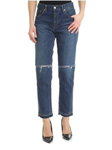 Sacai - Sacai jeans in destroyed effect denim