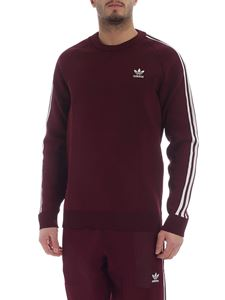 Adidas Originals - Knit Crew sweatshirt in burgundy with 3 white stripes
