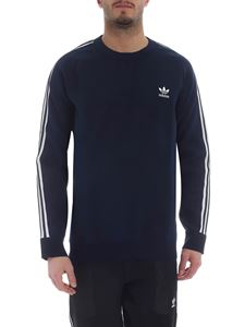 Adidas Originals - Knit Crew sweatshirt in blue with 3 white stripes