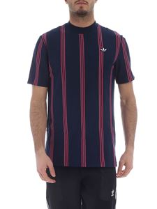 Adidas Originals - Blue and pink Stripes T-shirt with logo