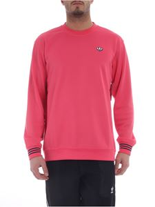 Adidas Originals - Crewneck fuchsia sweatshirt with logo