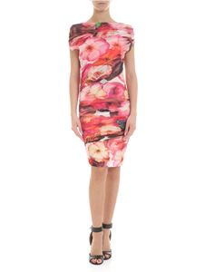 MSGM - Floral dress in curled tulle