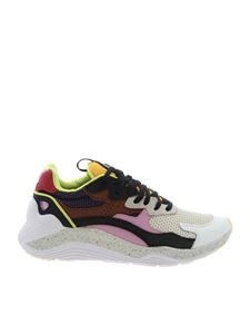 McQ Alexander Mcqueen - Beige Daku sneakers with orange tongue