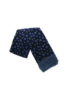 Tommy Hilfiger - Blue scarf with circles print