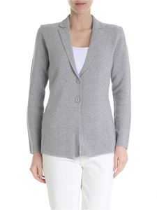 Kangra Cashmere - Gray lamé cotton jacket