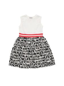Moncler Jr - Moncler printed cream sleeveless dress