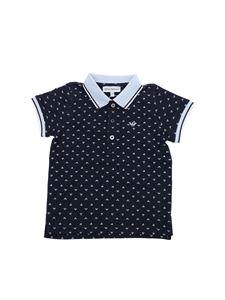 Emporio Armani - Blue polo with print