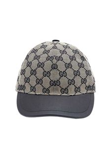 Gucci - Gucci blue and beige hat with blue details