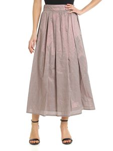 Peserico - Wide skirt in brown and bronze vichy print