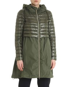 Herno - Green asymmetrical down jacket