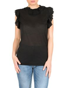 Dsquared2 - Top nero con rouches