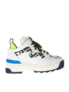 Fendi - T-Rex sneakers in leather and FF fabric