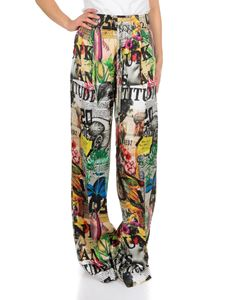 Dsquared2 - Wide multicolor printed trousers