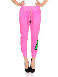 Dsquared2 - Pantalone fucsia con coulisse in catena