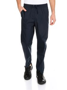 Kenzo - Blue trousers with drawstring