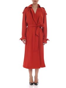 Michael Kors - Coral red color trench coat