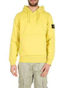 Stone Island - Yellow hooded sweatshirt