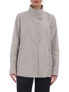 Fay - Technical jacket in ice-colored fabric