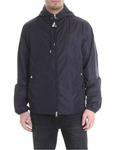 Moncler - Grimpeurs jacket in blue technical fabric