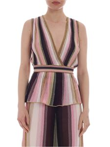 M Missoni - Top in shades of pink lamé