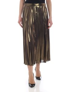 Michael Kors - Golden laminated effect skirt