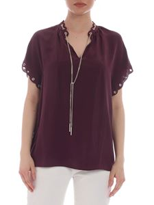 Michael Kors - Pure plum-colored silk blouse