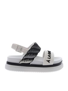 Melissa - Cosmic II sandals in white and black