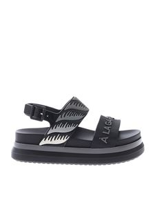 Melissa - Cosmic II sandals in black and gey