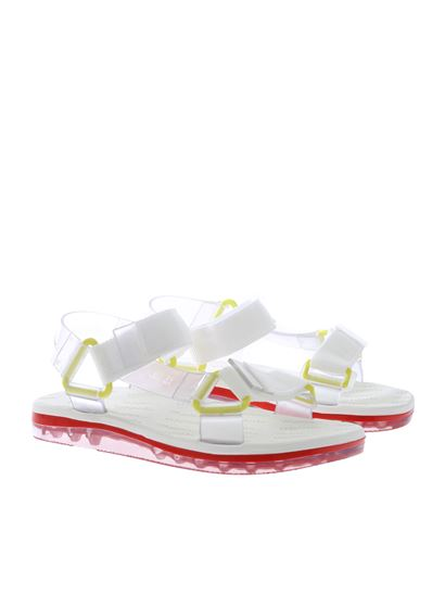 Melissa - Papete sandals with white straps
