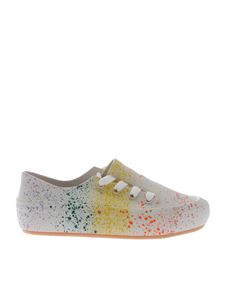Melissa - White Ulitsa sneakers with multicolor spots