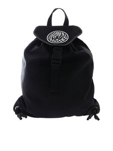 McQ Alexander Mcqueen - Black backpack with swallow logo