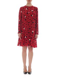 Red Valentino - Red silk dress with stars print