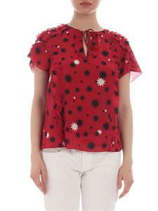 Red Valentino - Red silk blouse with star print