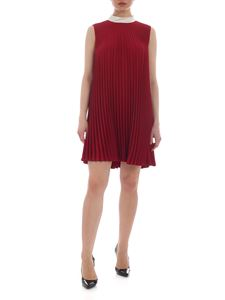 Red Valentino - Burgundy Red Valentino pleated dress