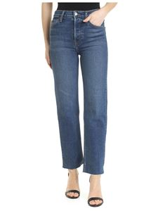 Re/Done - Blue high waisted 5 pockets jeans