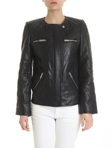 Isabel Marant Étoile - Black leather Kadya padded jacket