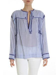 Isabel Marant Étoile - White and blue Jilcky blouse