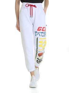 GCDS - White printed GCDS trousers