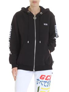 GCDS - GCDS black hooded sweatshirt