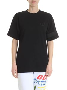 GCDS - Black GCDS t-shirt with XCIV logo