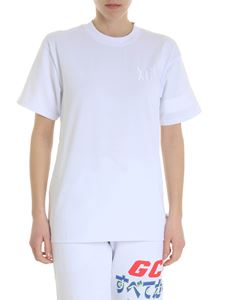 GCDS - White GCDS t-shirt with XCIV logo