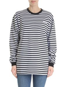 GCDS - GCDS black and white striped sweater