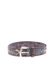 Orciani - Orciani belt with flowers