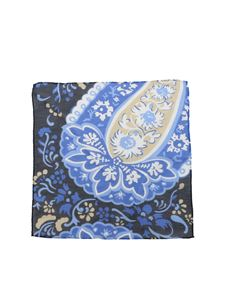 L.B.M. 1911 - Pochette in linen blend in shades of blue