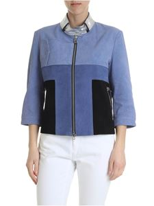 Diego M - Light blue leather jacket