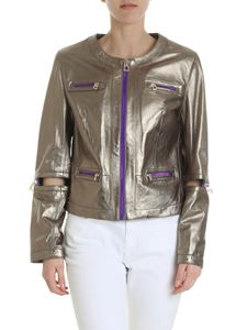 Diego M - Jacket in golden leather