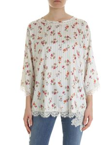 Ermanno by Ermanno Scervino - White oversize blouse with flower print
