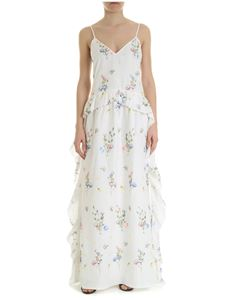 Blugirl - Blugirl white dress with floral embroidery