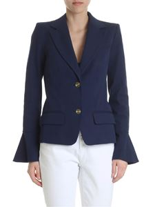 Michael Kors - Blue jacket with ruffle on the sleeves
