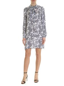 Michael Kors - Dress in blue and white pure silk